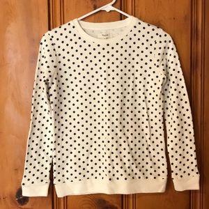 Madewell - polka dot crew neck sweatshirt